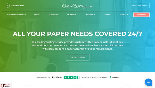 customwritings homepage